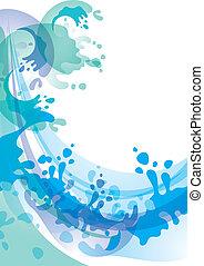 Water background design element