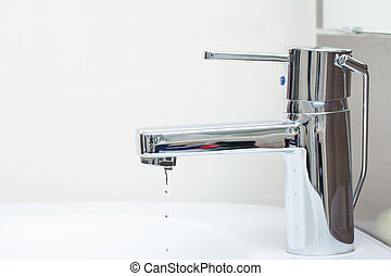 water, badkamer, het droppelen