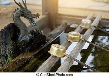 water, bamboe, fontijn