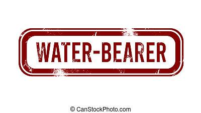water-bearer - red grunge button, stamp