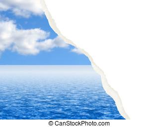 water, beeld, gescheurd, wolk