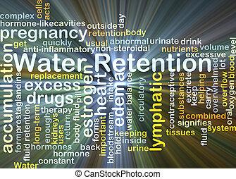 water, behoud, achtergrond, concept, gloeiend