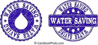 water, besparing, postzegel, grunge, zegels