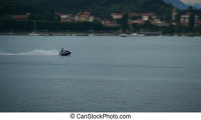 Water Bike Racing at High Speed