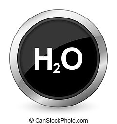 water black icon h2o sign