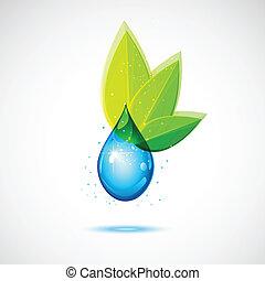 water, blad, pictogram