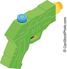 Water blaster icon, isometric style