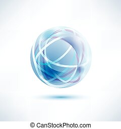 water blue abstract globe icon