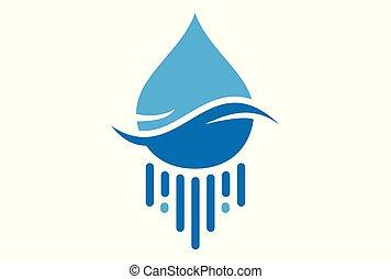 water blue logo icon