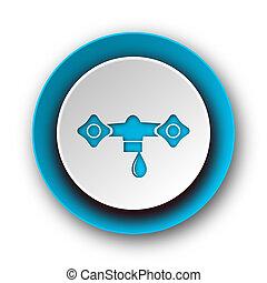 water blue modern web icon on white background