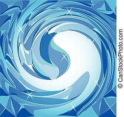 Water blue wave background