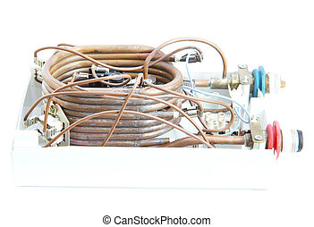 Water boiler coil isolated on white background
