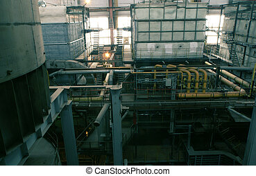 water boilers at power plant