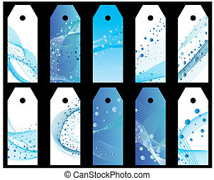 water bookmarks set