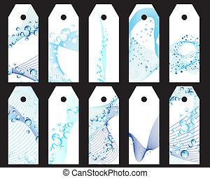 water bookmarks set