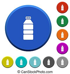 Water bottle beveled buttons