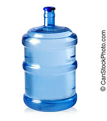 big plastic bottle for potable water isolated on a white background