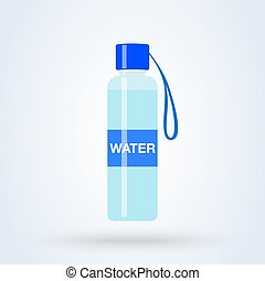 Water Bottle flat vector modern icon design illustration.
