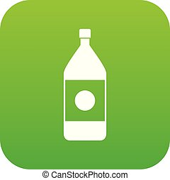 Water bottle icon digital green
