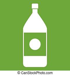 Water bottle icon green