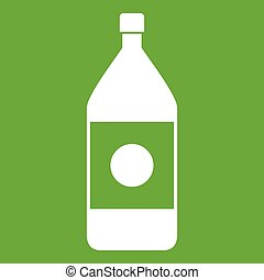 Water bottle icon green