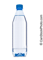 Water bottle isolated on the white