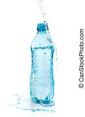 water bottle on white background