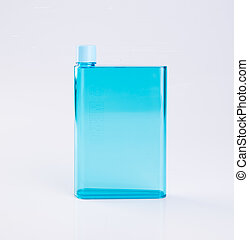 water bottle or empty plastic bottle on a background.