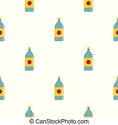 Water bottle pattern seamless