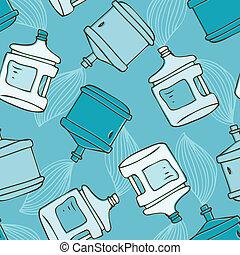 Water bottle seamless pattern