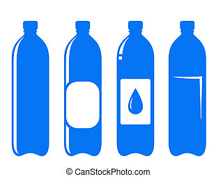 water bottle set on white background