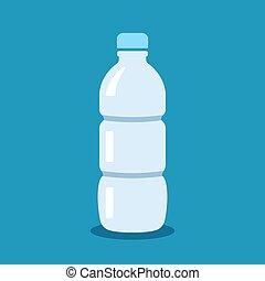 Water bottle vector cartoon