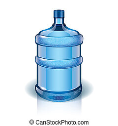 Water bottle vector illustration