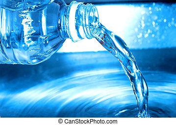 water bottle - Water bottle pouring water