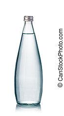 water bottles on white background