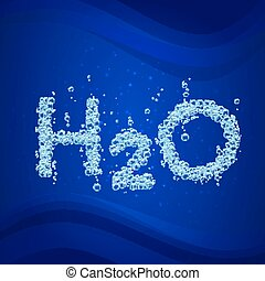 Water bubble background h2o