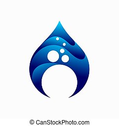 Water bubbles Logo