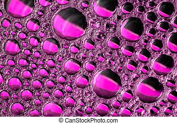 water bubbles.