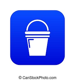 Water bucket icon blue