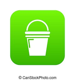 Water bucket icon green