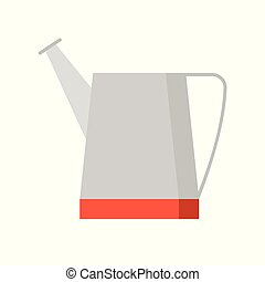 water can, farming equipment flat icon vector