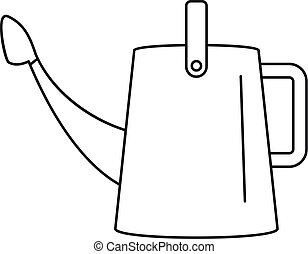 Water can icon, outline style