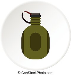 Water canteen icon circle