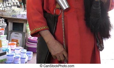 Water carrier at Marakech market