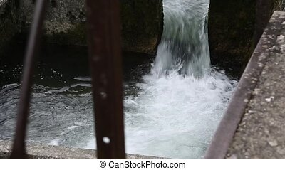 Water Cascade - Water cascade at river Valsarine, France