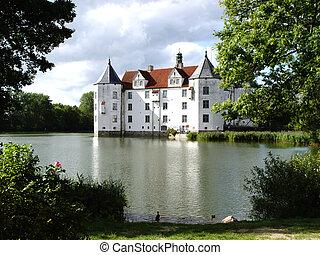 water castle - in gluecksburg, north germany