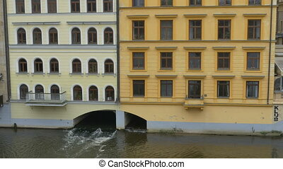 Water Channel under Building