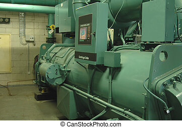 Water Chiller - A large commercial-size water Chiller used ...