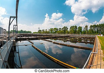 Water cleaning facility