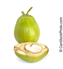 water coconut an isolated on white background